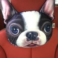 30-22cm-Creative-Cartoon-dog-Car-headrest-neck-pillow-car-cushion-PP-cotton-core-and-Active-3