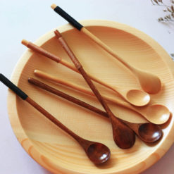 Long Handle Wooden Mixing Spoon