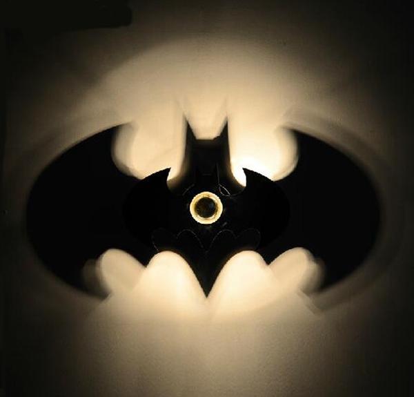 Batman shadow wall lamp seekfancy batman shadow wall lamp home mozeypictures Images