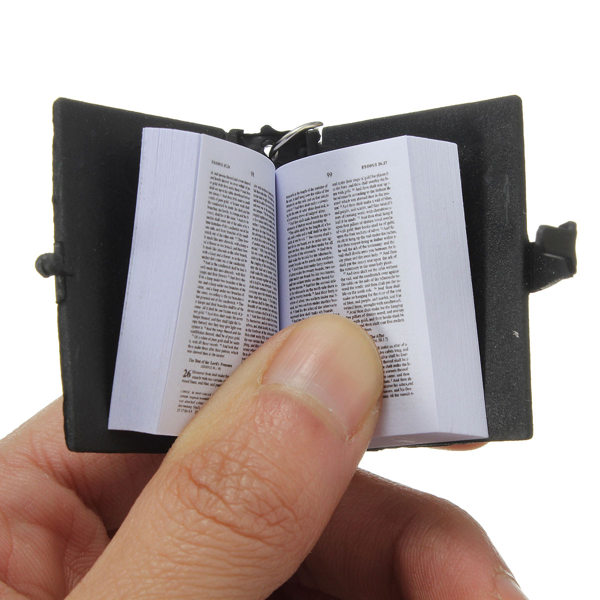 How To Make A Book Keychain : Delicate holy bible book keychain seekfancy