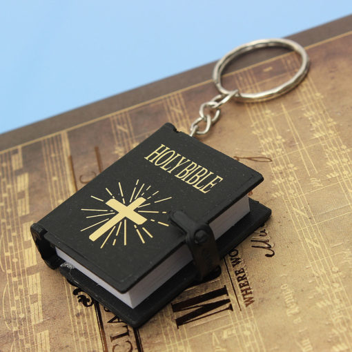 Delicate Holy Bible Book Keychain