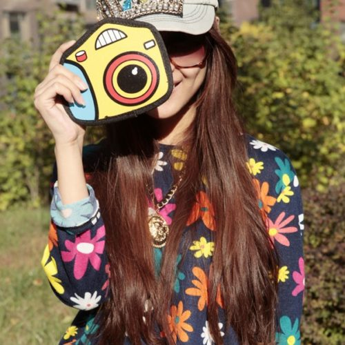 3D Cartoon Camera Wrist Purse
