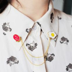 Cute Collar Brooches