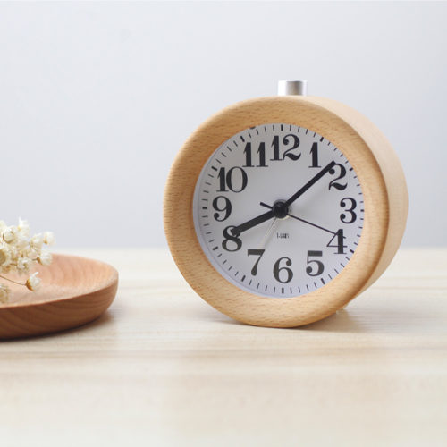 Beech Wood Alarm Clock (6)
