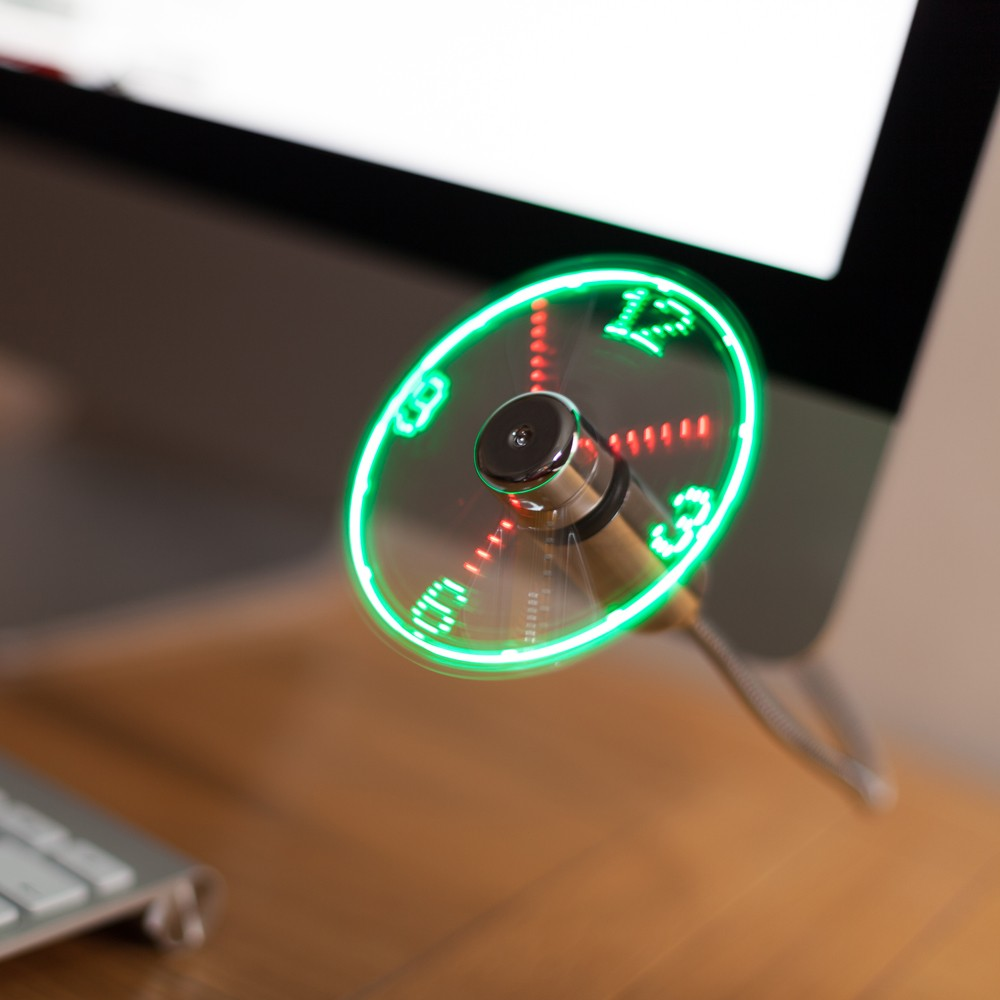 Usb Led Clock Fan Seekfancy Com