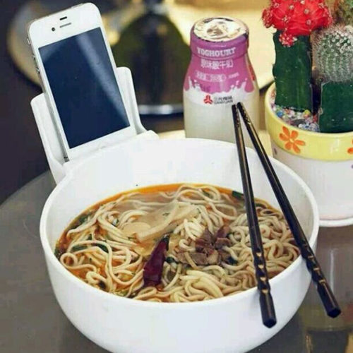 Noodle Bowl Tableware with Phone Holder-1