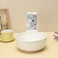Noodle Bowl Tableware with Phone Holder-White
