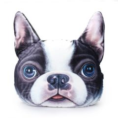 3D Dog Throw Pillow