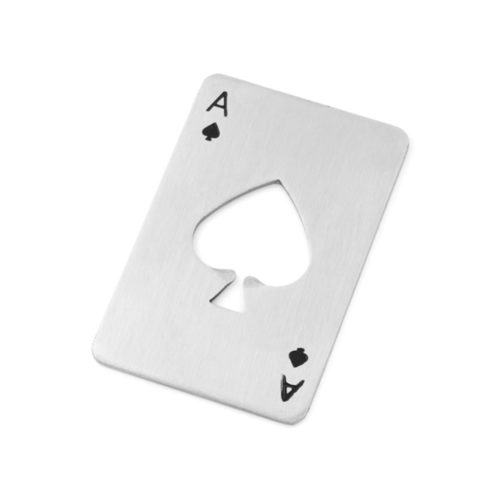 The Ace of Spades Casino Bottle Opener