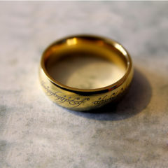 Gold-Plated Stainless Steel One Ring